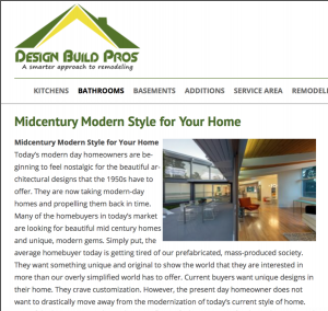 Design Build Pros blog post Midcentury Modern
