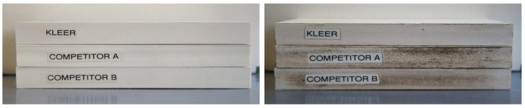 Kleer Lumber trimboards versus trim competitors