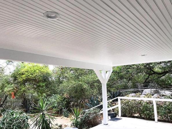 Kleer Lumber cellular PVC beadboard deck ceiling