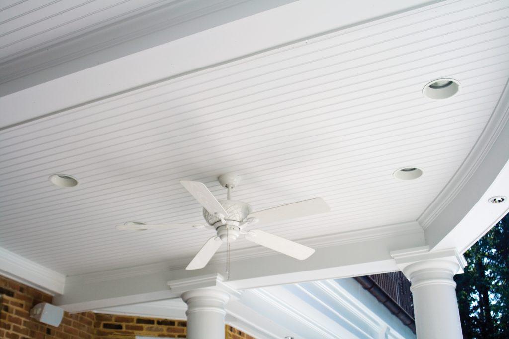 Kleer Lumber cellular PVC beadboard porch ceiling