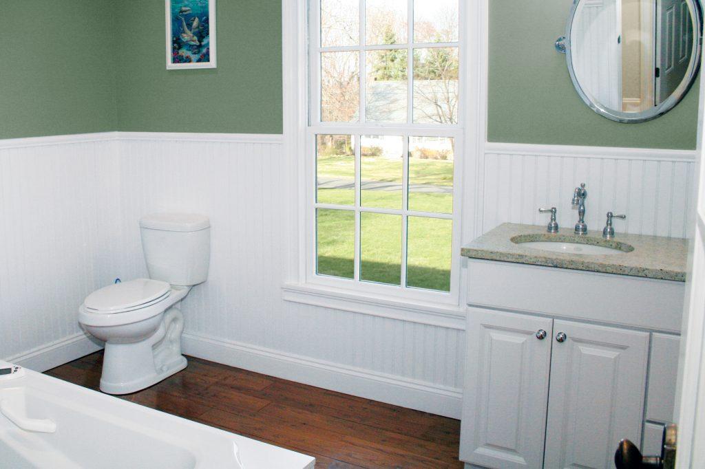 Kleer Lumber cellular PVC beadboard bathroom