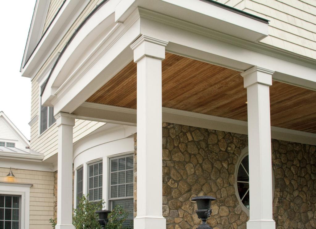 KleerWrap post wraps on porch