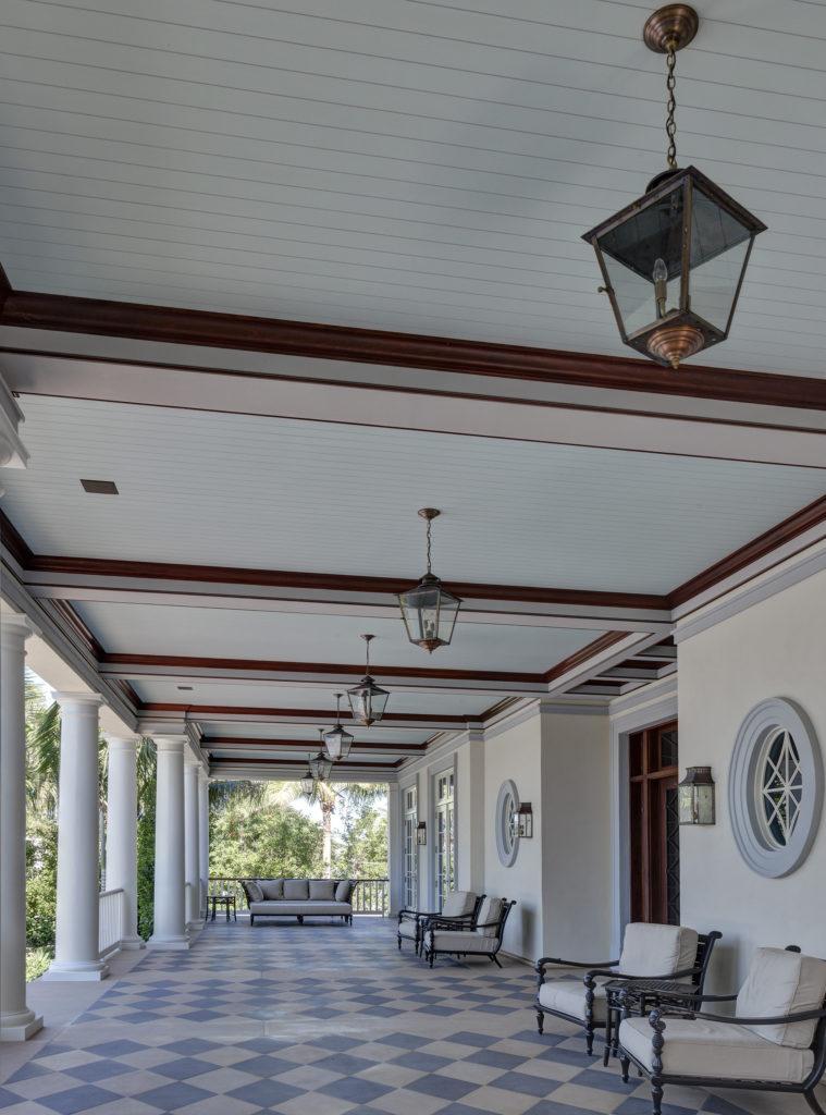 TruExterior Trim poly-ash beadboard on porch ceiling